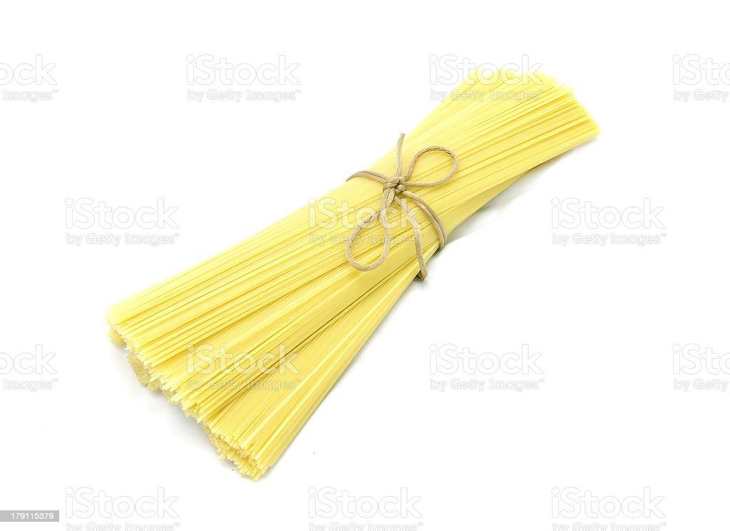 Pasta (spaghetti) whole grain royalty-free stock photo