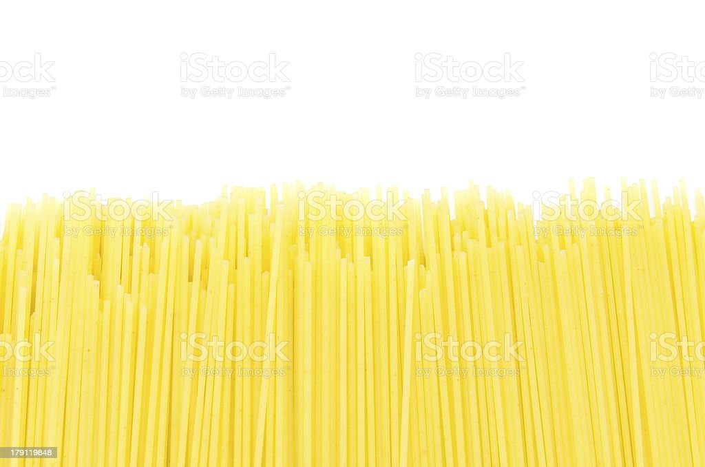 Pasta (spaghetti) whole grain royalty-free stock photo
