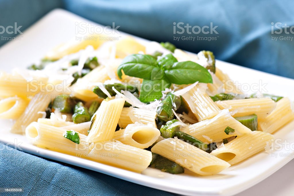 Pasta with Asparagus royalty-free stock photo