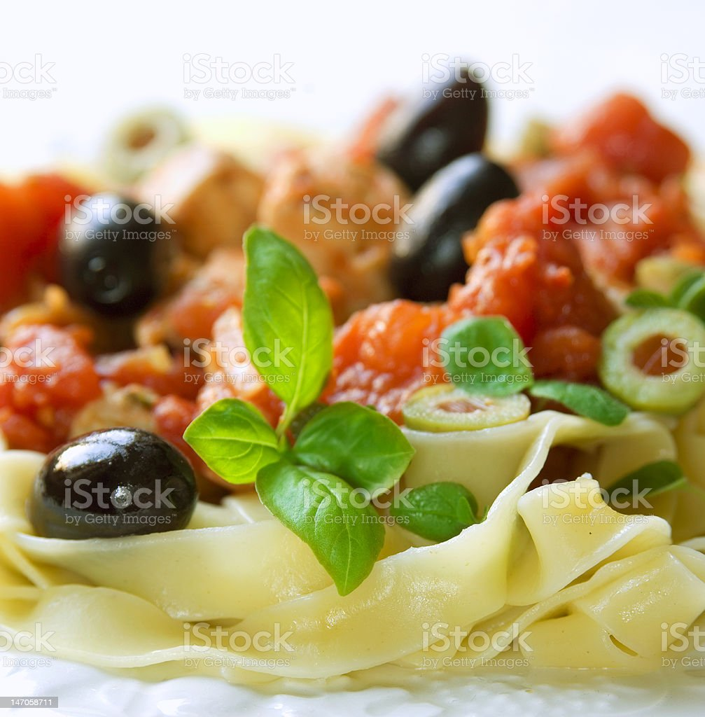 pasta with ingredients royalty-free stock photo
