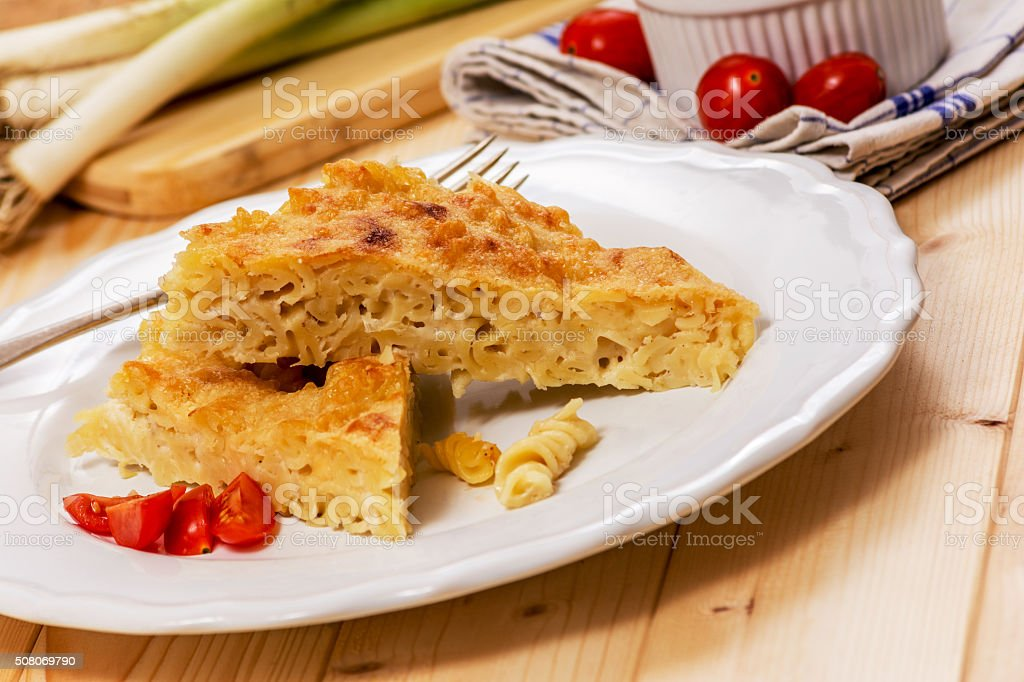 Pasta with mornay stock photo