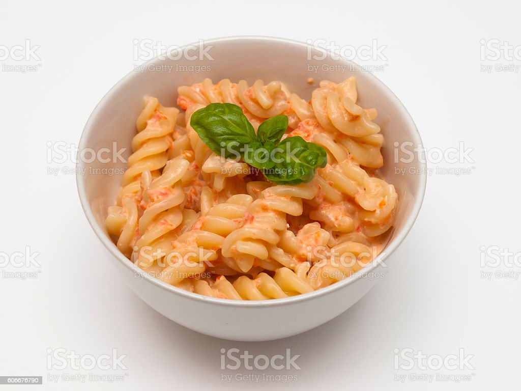 Pasta with Pesto Calabrese stock photo