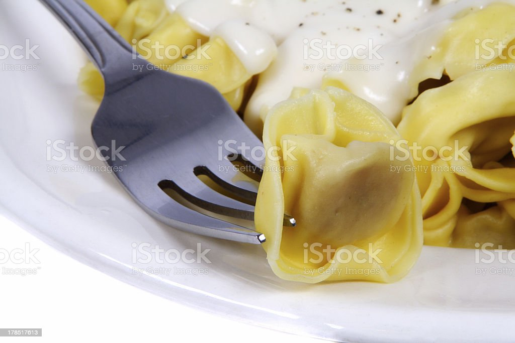 pasta with sauce royalty-free stock photo