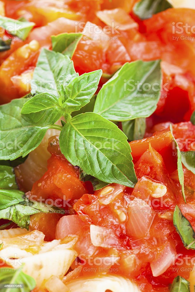 Pasta with tomato royalty-free stock photo