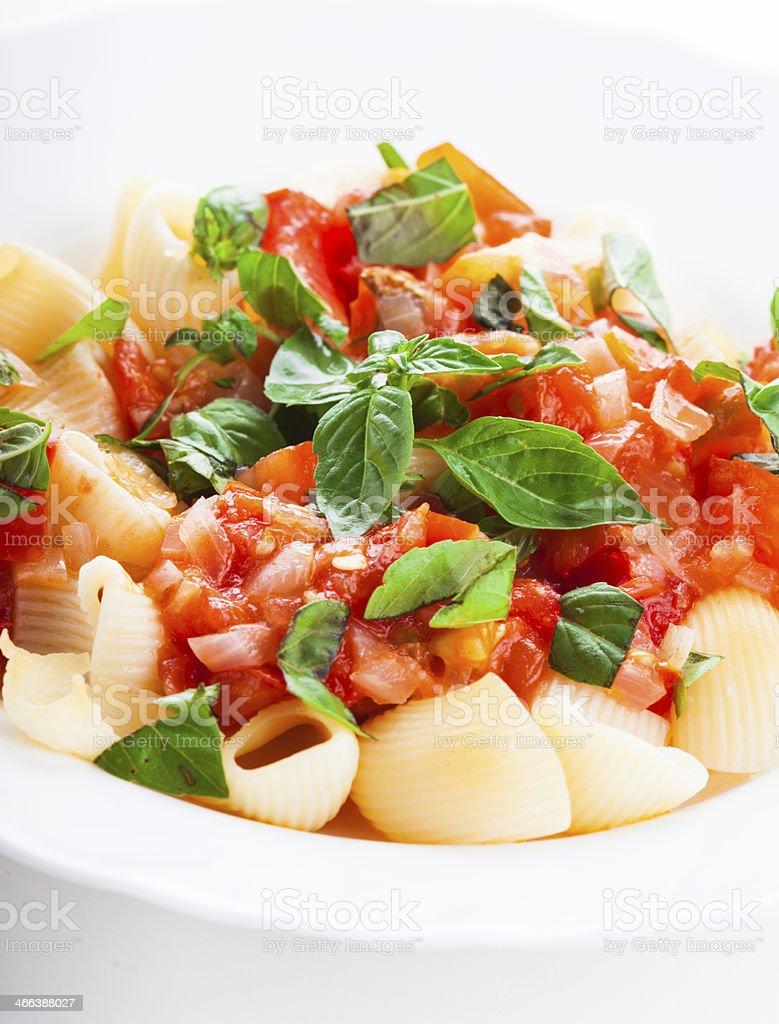 Pasta with tomato royalty-free stock photo