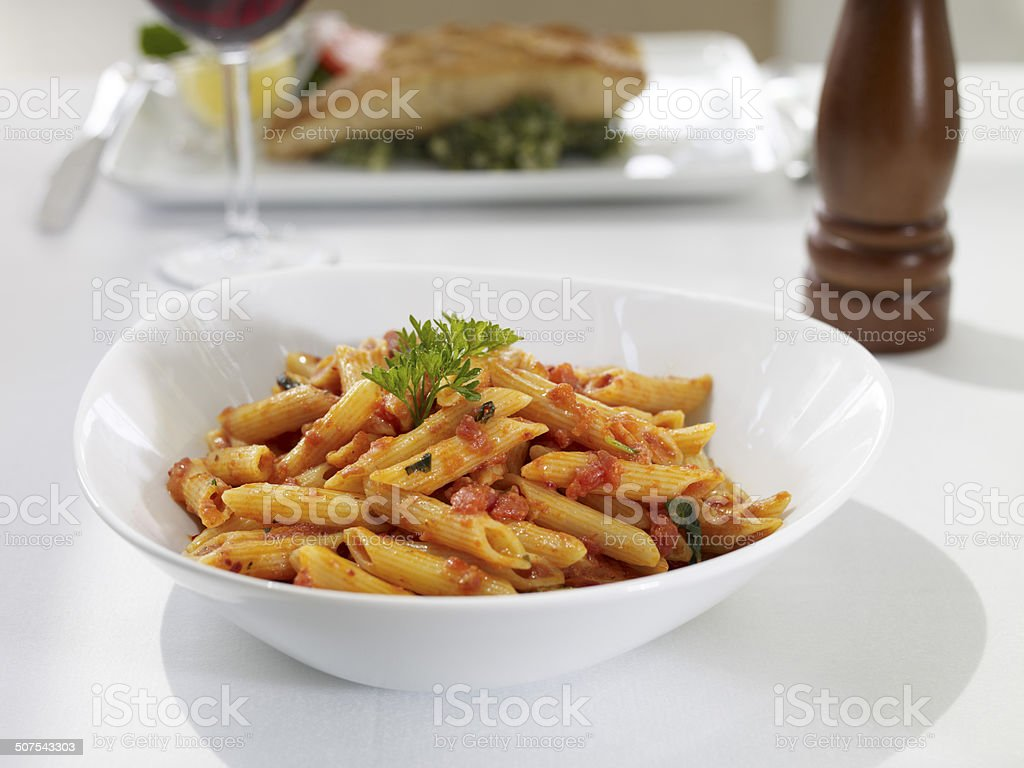 Pasta With Tomato Sauce royalty-free stock photo