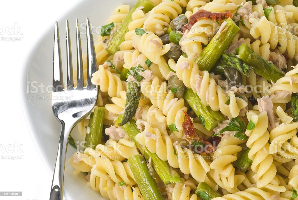 Pasta with Tuna Fish and Vegetables stock photo