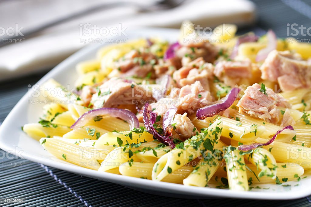 Pasta with Tuna royalty-free stock photo