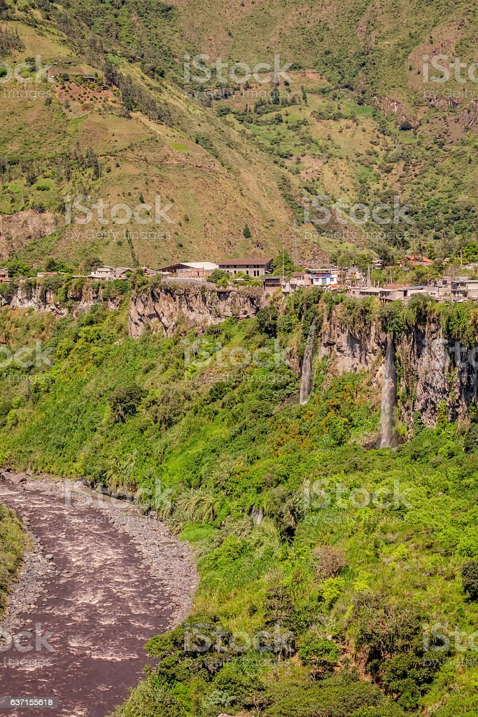 Pastaza Valley In The Andes Mountains, South America stock photo