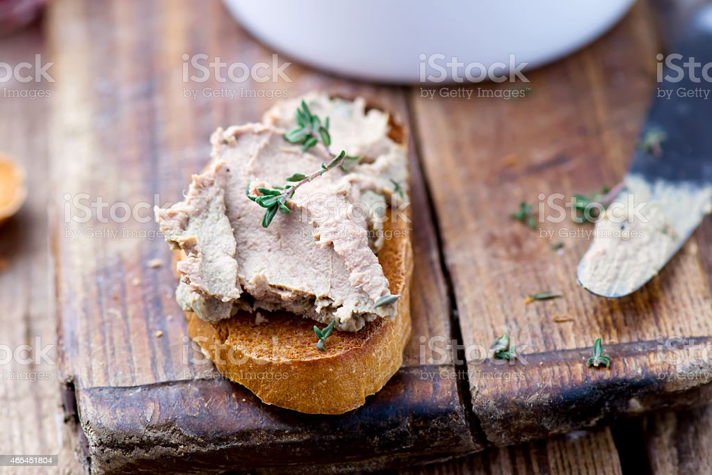 paste from a chicken liver. stock photo