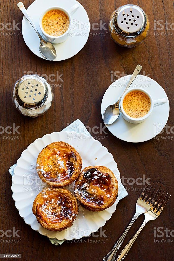 Pasteis de Nata and Espresso stock photo