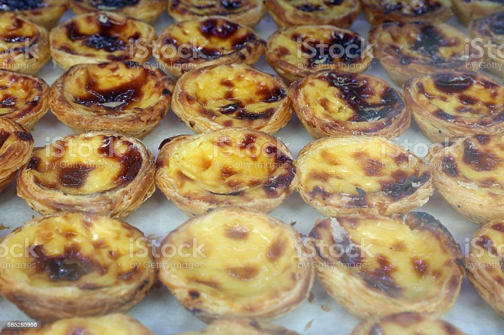 Pasteis de Nata - typical Portuguese egg tart stock photo