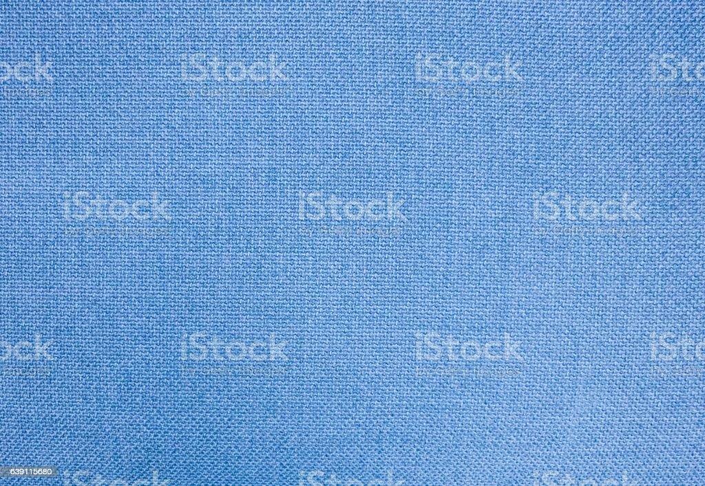 Pastel Background of Blue Cotton Textile Texture stock photo