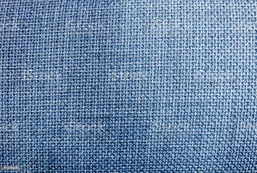 Pastel Background of Blue Sack Textile Texture stock photo