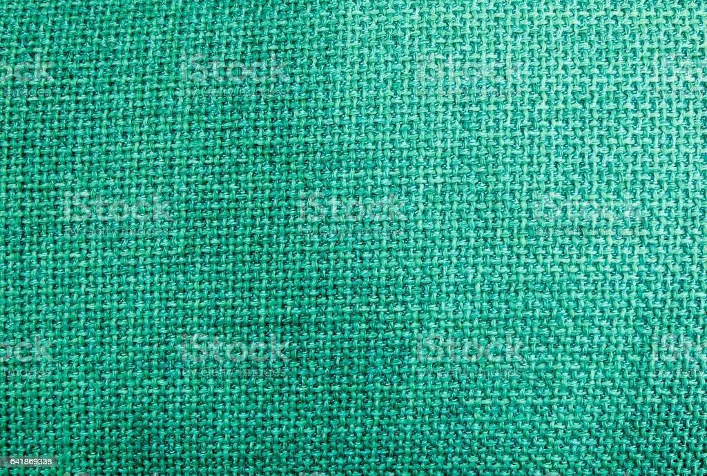 Pastel Background of Green Sack Textile Texture stock photo