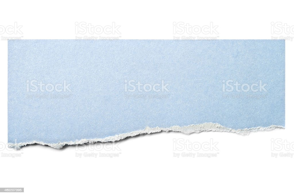 Pastel Blue Paper Tear Isolated stock photo