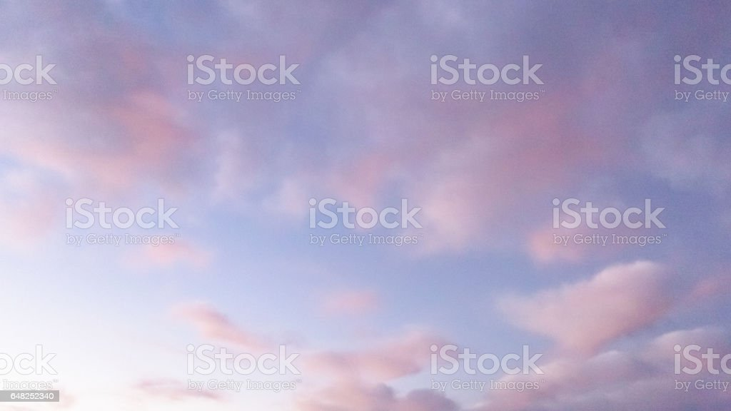 Pastel Cloudscape - Nature Background stock photo