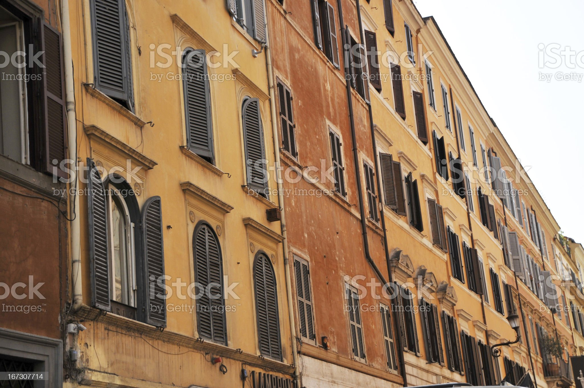 pastel color buildings royalty-free stock photo