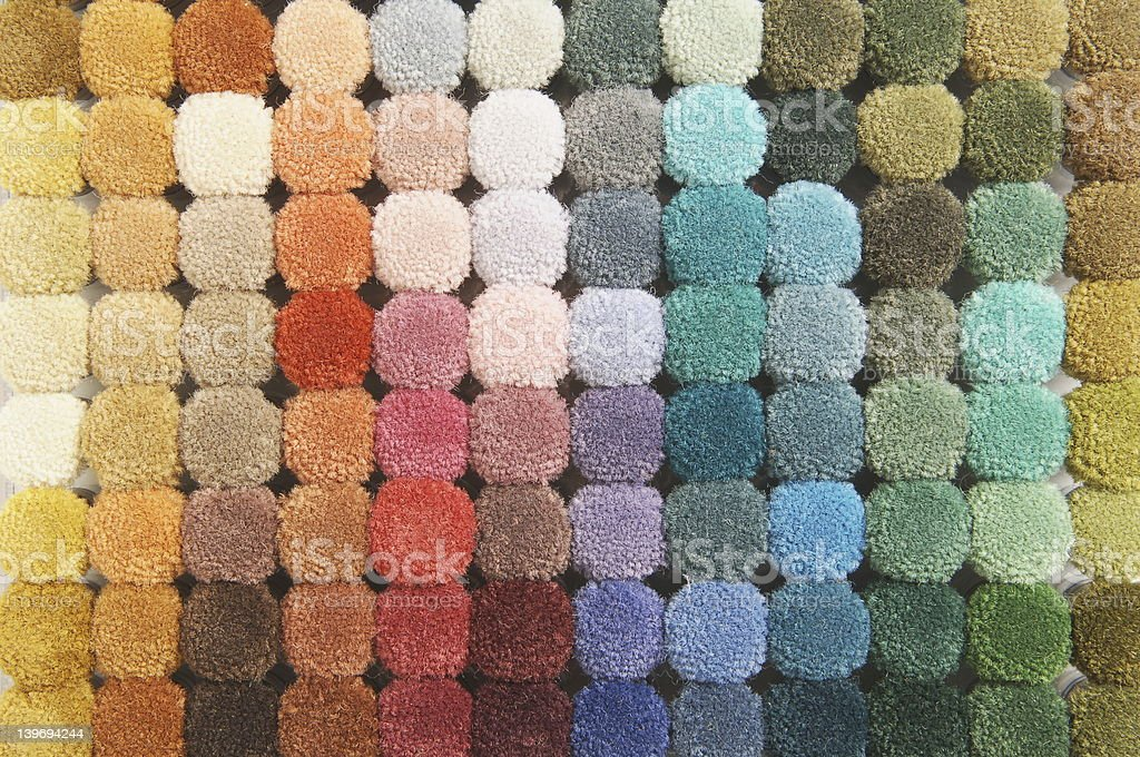 Pastel color palette in Soft sponge stock photo