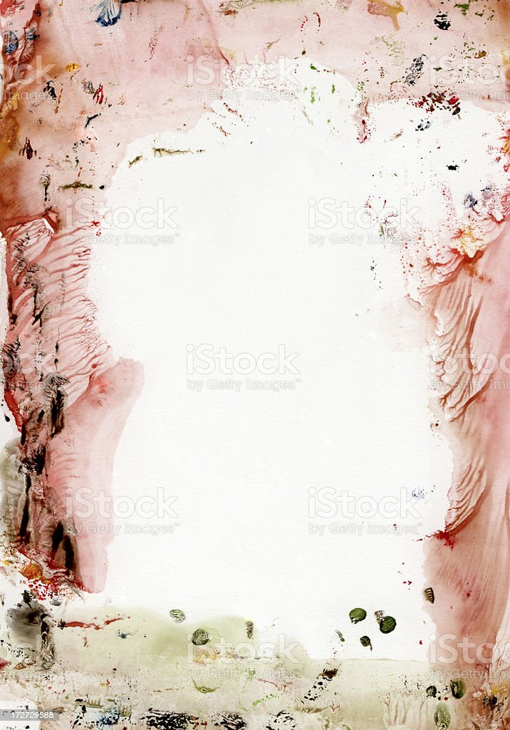 XXXL pastel colored abstract frame royalty-free stock photo