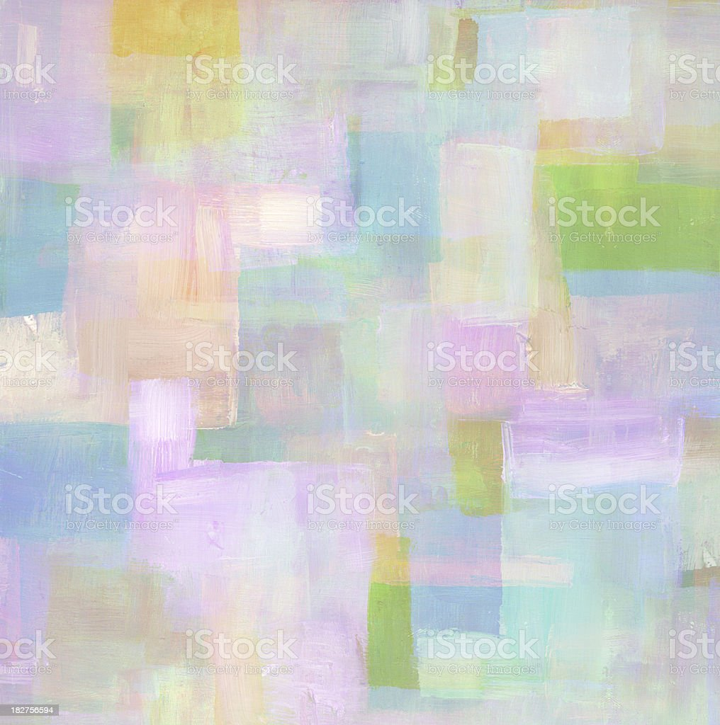 Pastel colored abstract oil painting royalty-free stock photo