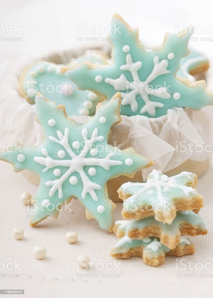 Pastel colored cookies stock photo