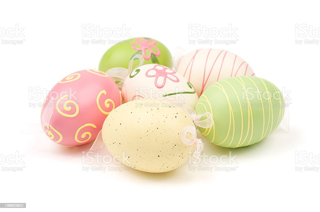 Pastel Colored Easter Eggs royalty-free stock photo