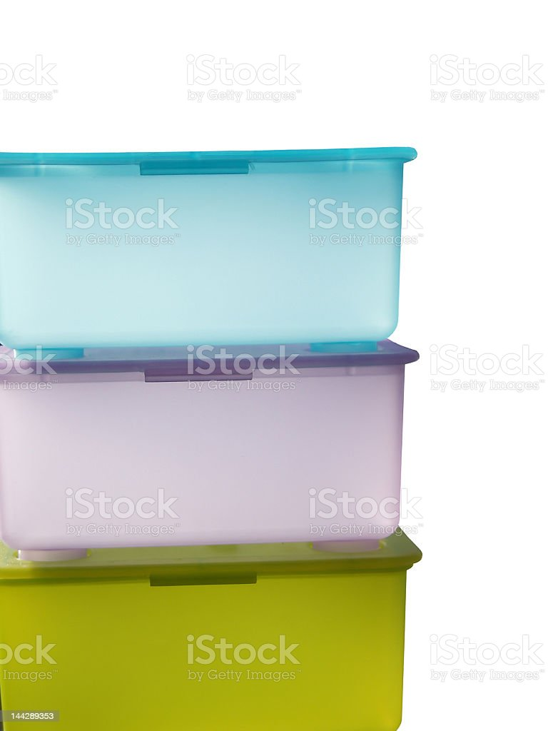 Pastel Containers royalty-free stock photo