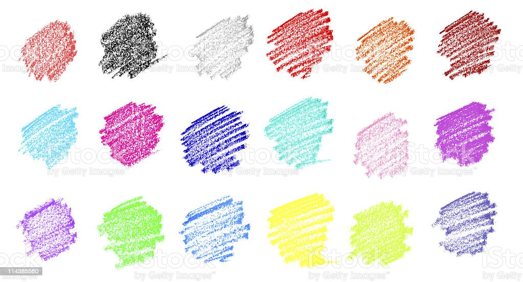 Pastel Crayon Color Drawing stock photo