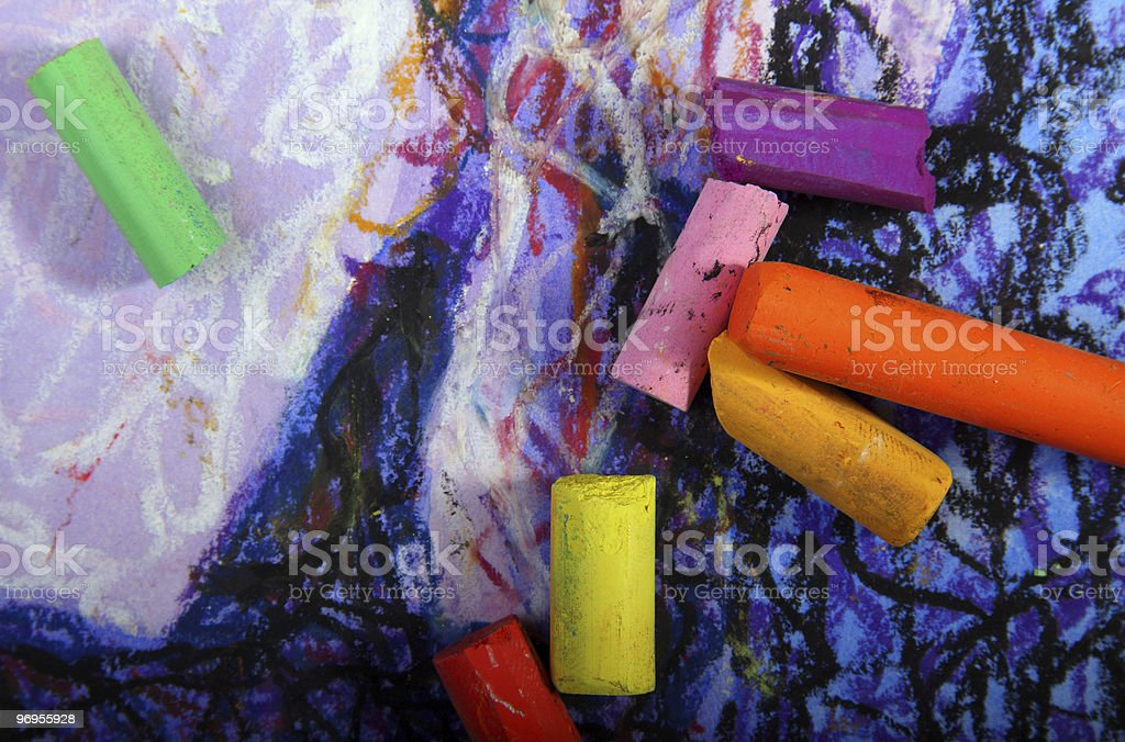 pastel crayon I stock photo