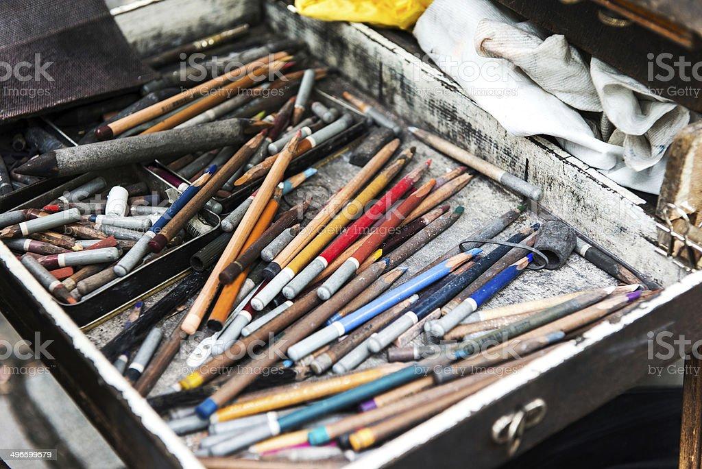 Pastel Crayons royalty-free stock photo