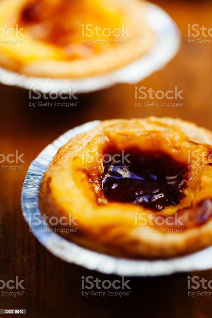 Pastel de nata, portuguese traditional creamy pastry. Pasteis de stock photo