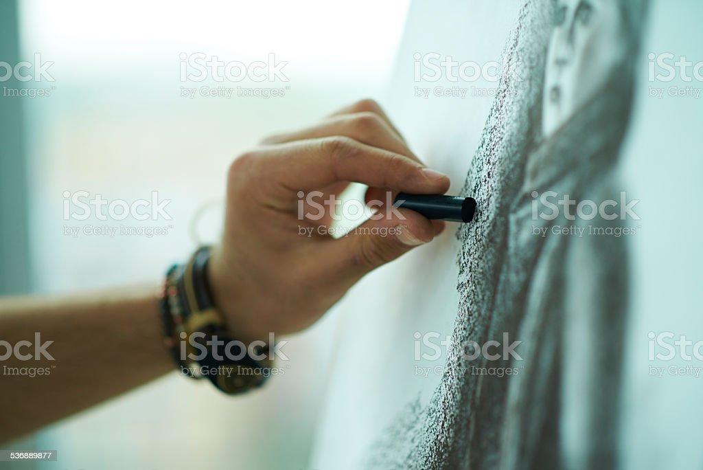Pastel drawing stock photo