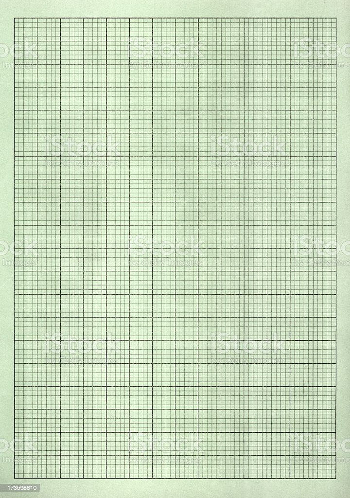 Pastel green graph paper royalty-free stock photo