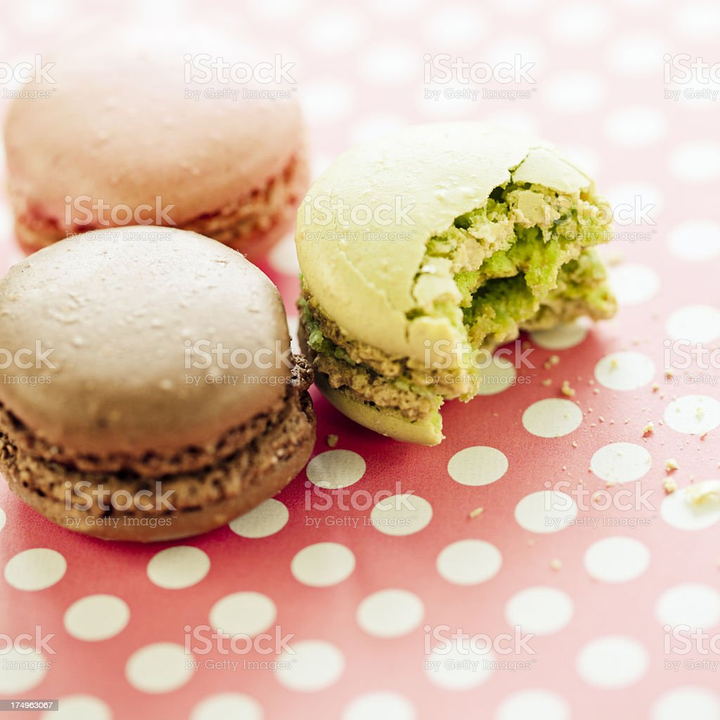 Pastel Macaroons royalty-free stock photo