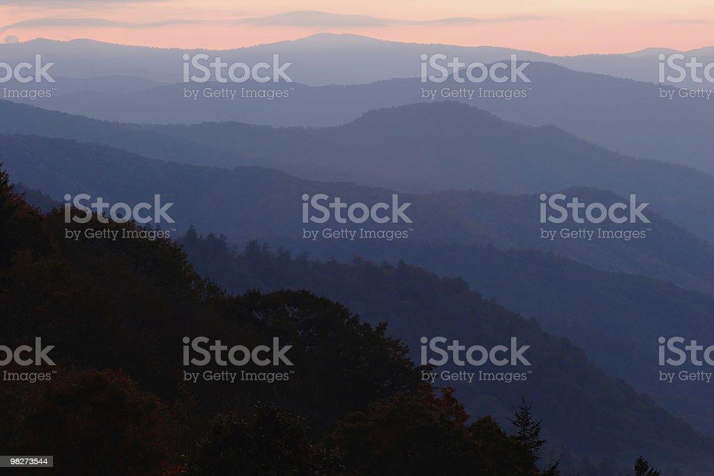 Pastel Mountain Layers royalty-free stock photo
