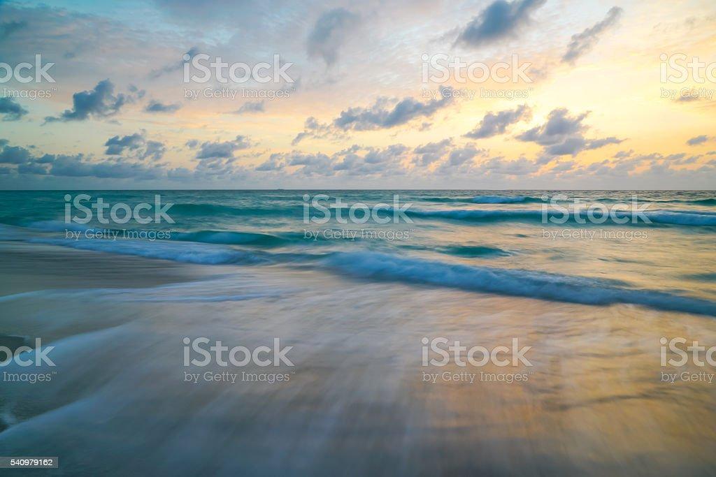 Pastel Ocean Sky stock photo