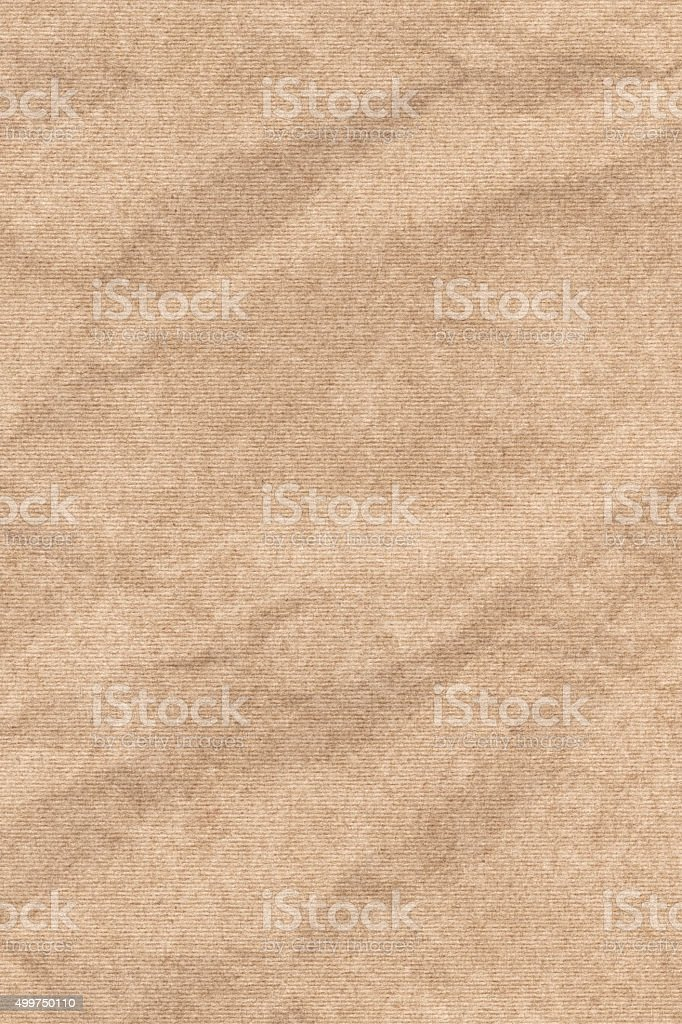 Pastel Pale Beige Striped Recycle Paper Crumpled Grunge Texture stock photo