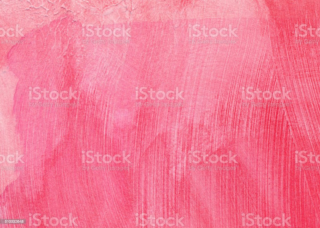 Pastel pink hand painted background with texture of brush strokes stock photo