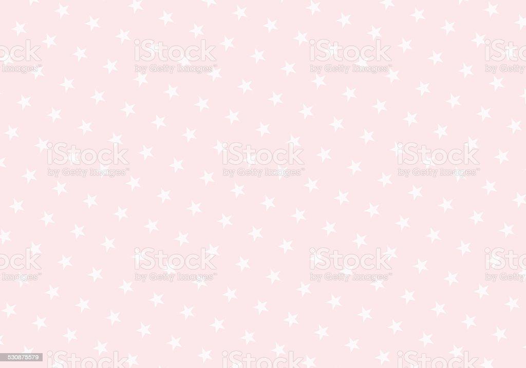 Pastel Pink Stars on Light Pink Background stock photo