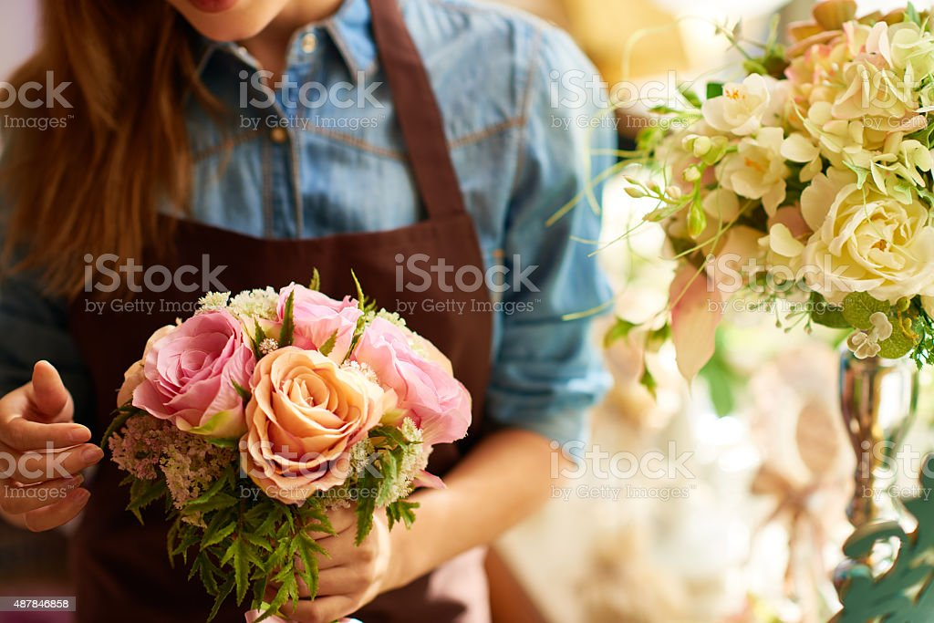 Pastel shades of flowers stock photo