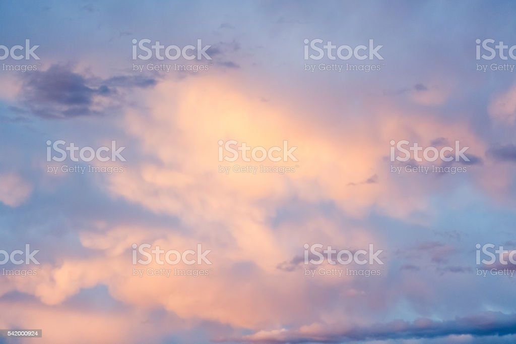 Pastel Sky And Clouds Nature Background stock photo