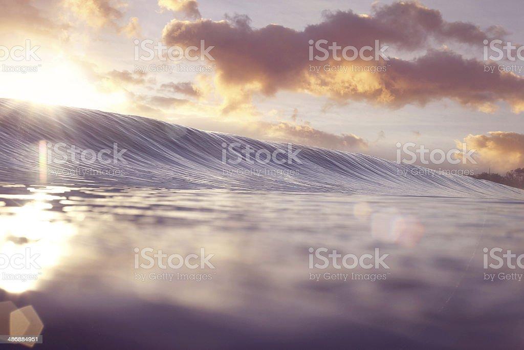 Pastel Sunrise Wave stock photo