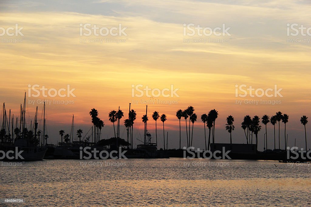 Pastel Sunset Mission Bay, San Diego stock photo