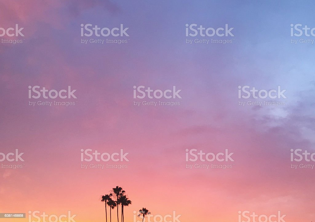 Pastel Sunset stock photo