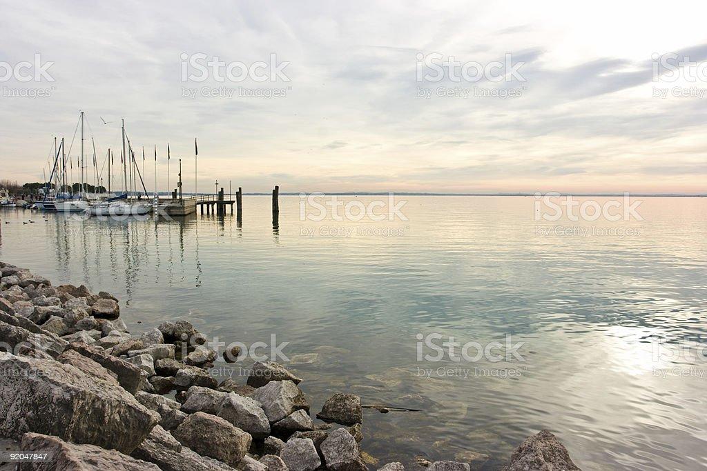 Pastel sunset royalty-free stock photo