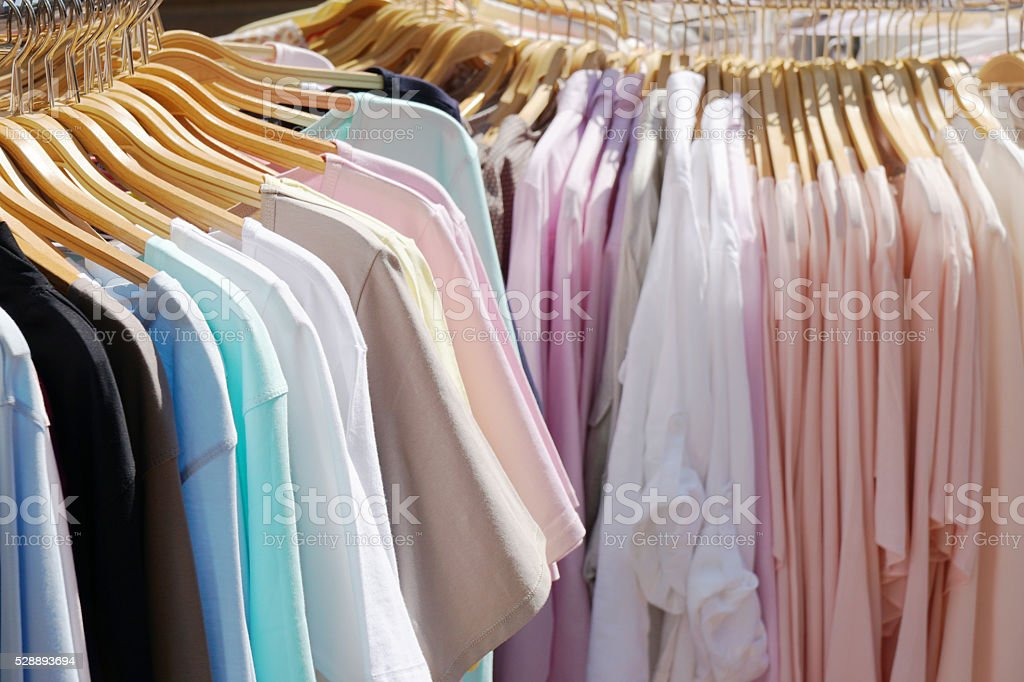 pastel-colored spring summer fashion stock photo