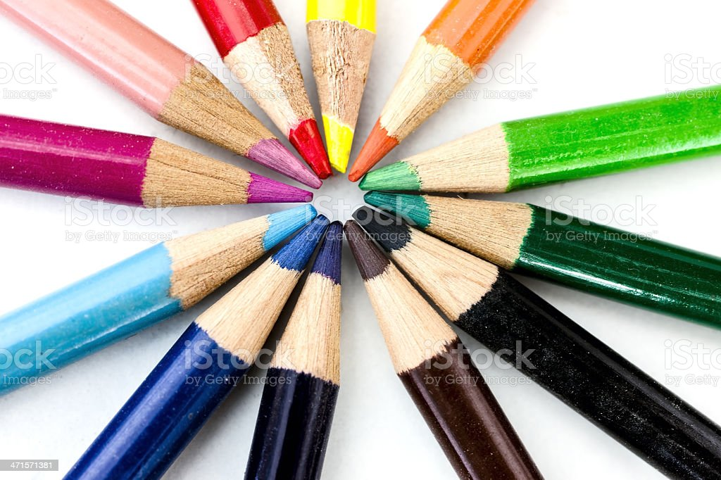 pastelli colorati stock photo