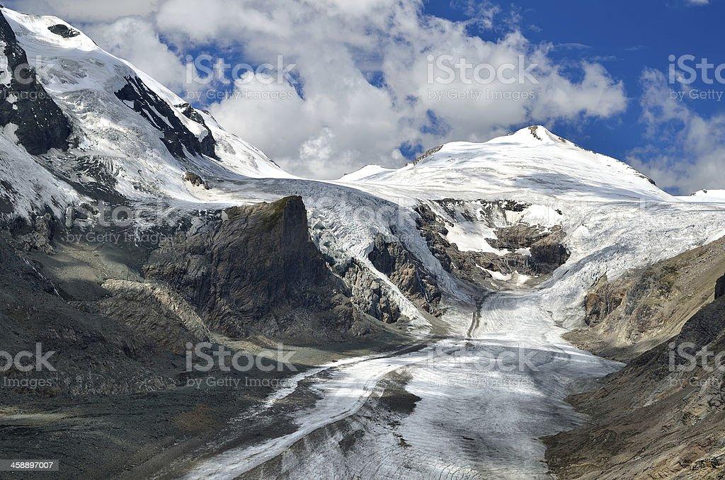 Pasterze glacier and Grossglockner, Austria highest mountain stock photo