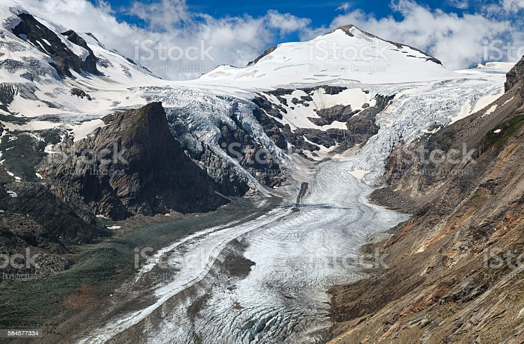 Pasterze Glacier, Grossglockner mountain, Austria stock photo